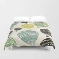 balloons Duvet Covers featuring Balloons by spinL