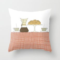 have a fika with me Throw Pillow