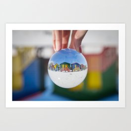 Changing Rooms at the Beach Art Print