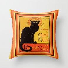 Tournee Du Chat Noir - After Steinlein Throw Pillow