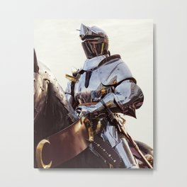 Knight In Shining Armour Metal Print