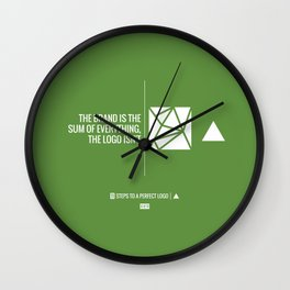Perfect Logo Series (6 of 11) - Green Wall Clock