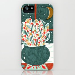 Winter Solstice Still Life by Amanda Laurel Atkins iPhone Case