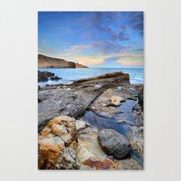 """""""Volcanic sea"""". Cabo de Gata. Canvas Print"""