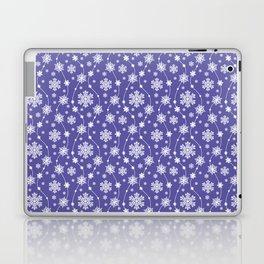 Purple Holiday Snowflake Pattern Laptop & iPad Skin