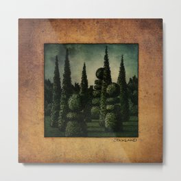 Secret Moonrise Garden Metal Print