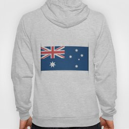 Flag of Australia. The slit in the paper with shadows.  Hoody