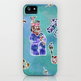 Snakes and the snake Charmer iPhone Case