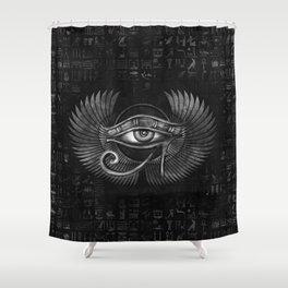 Egyptian Eye of Horus - Wadjet Digital Art Shower Curtain