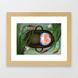 Baby Moses on the River Nile Framed Art Print
