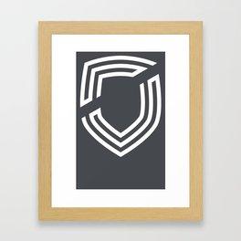 third. Shield - White Framed Art Print