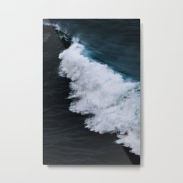 Powerful breaking wave in the Atlantic Ocean - Landscape Photography Metal Print
