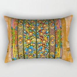 Colorful Asian Motif Style Doorway Photograph Rectangular Pillow