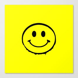 smiley face rave music logo Canvas Print