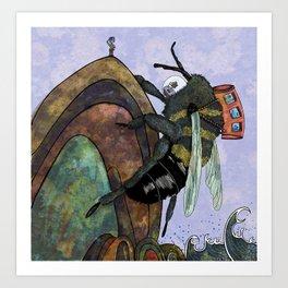The Bee Travelers Art Print