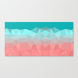 Crystal fantasy background mint and coral color Canvas Print