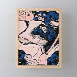 Girly Girl Cow Framed Mini Art Print