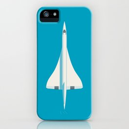 Concorde Supersonic Jet Airliner Aircraft - Cyan iPhone Case