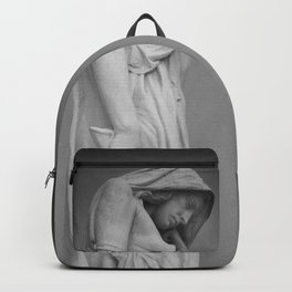 Statue in the mist Backpack