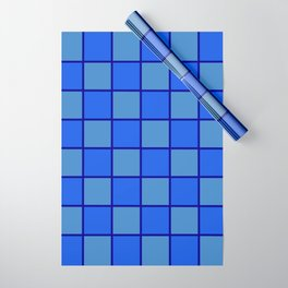 Blue Chex 1 Wrapping Paper