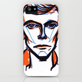 David Bowie Vibrant Orange iPhone Case