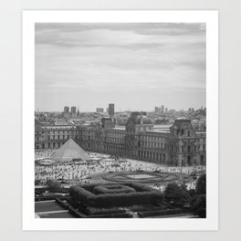 Postcard from Paris. Black and White Vintage Photography. Art Print