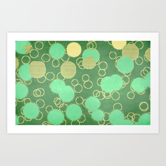 Sugar rings Art Print