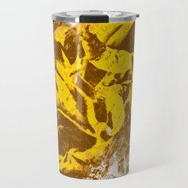 Yellow Rose Watercolor Travel Mug