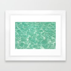 Pastel Pool. Framed Art Print
