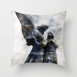 Cemetery Angles with Marble Sky Throw Pillow