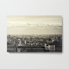 Turin, Italy Skyline Cityscape Panoramic Photograph Metal Print