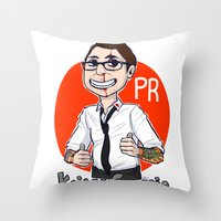 pacific rim Throw Pillows featuring Pacific Rim Kaijuu Groupie  by TheDigitalPandora