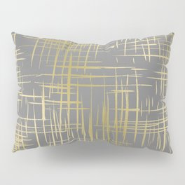 Crosshatch Grey Pillow Sham