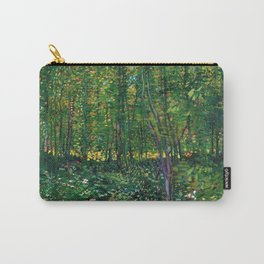 Brush and Underbrush flower and forest landscape by Vincent van Gogh Carry-All Pouch