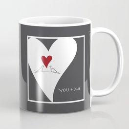 You + Me - Red Heart Birds In Love Coffee Mug