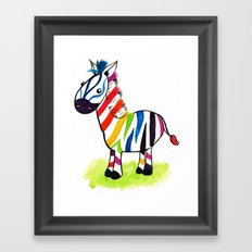 Colorful Zed Framed Art Print