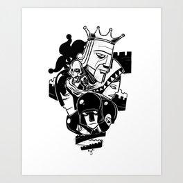 Tower Shuffle Art Print