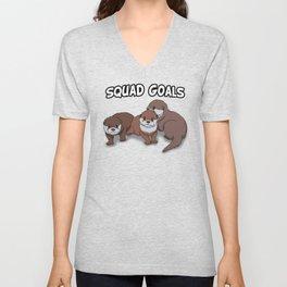 Otter Squad Goals Unisex V-Neck