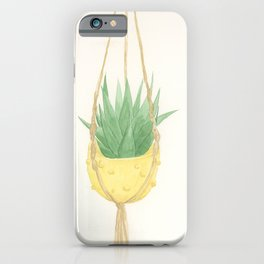 Macrame Succulent iPhone Case