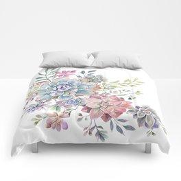 succulent watercolor 6 Comforters