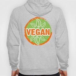 Go Vegan, green and orange, circle Hoody