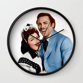 Kathryn Grayson and Howard Keel Wall Clock