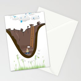 Deep Thinker Stationery Cards