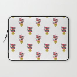 Lemon chilli charm - Black Red and Gold Laptop Sleeve