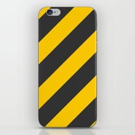 Stripes Diagonal Black & Yellow iPhone Skin