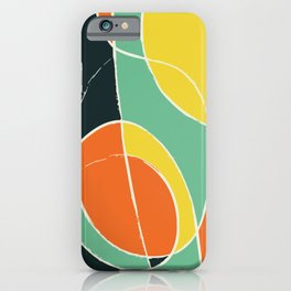 Abstract lines and colors iPhone Case