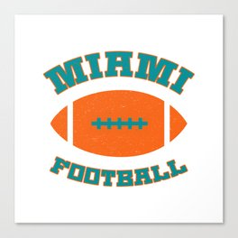 Miami Football Canvas Print