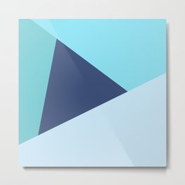 Retro Abstract Triangles 1 Metal Print