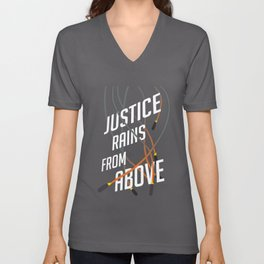 Justice Rains! Unisex V-Neck