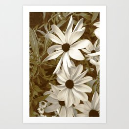 White Florals Art Print